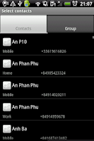 Screenshot of Group SMS & Scheduler