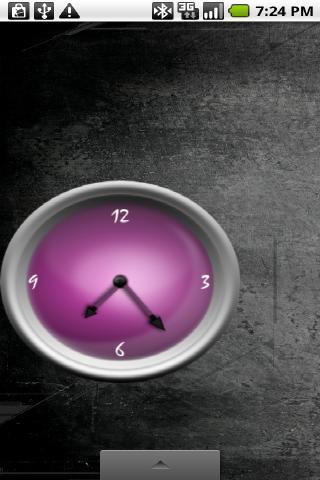Purple Analog Clock Set