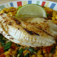 Cumin Fish & Roasted Corn Salsa (21 Day Wonder Diet: Day 10)