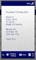 Screenshot of My Working Hours Free