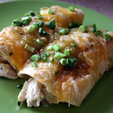 Spicy Chicken Enchiladas Verde