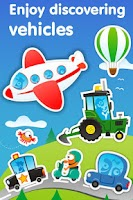 Screenshot of Planet Go: vehicles games kids