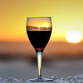 West Coast Sunset by Stephan Botha - Food & Drink Alcohol & Drinks