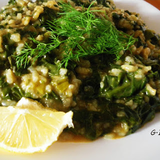 Greek Spinach risotto