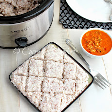 Crock-pot Creamy Savory Coconut Rice  (Sri Lankan Kiri Bath)