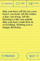 Screenshot of Happy Birthday Text Greetings