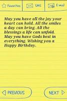 Screenshot of Happy Birthday Text Greetings