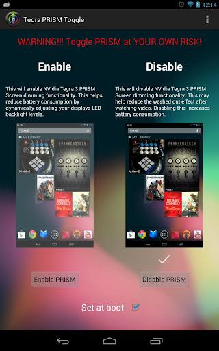 NVidia Tegra PRISM Toggle