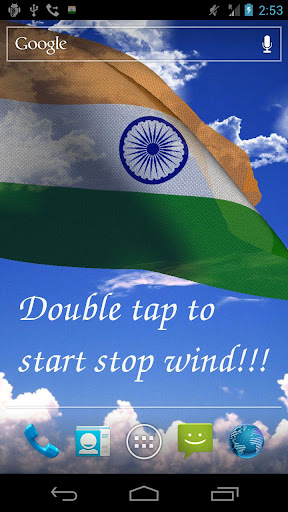 3D India Flag Live Wallpaper +