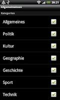 Screenshot of Allgemeinwissen (Quiz)