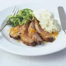 Duck with Seville orange & savoy cabbage