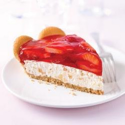 Tropical Strawberry Cream Pie