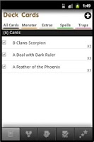 Screenshot of Yugioh Deck Builder