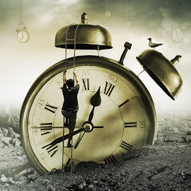KEINGINAN DAN WAKTU by Ilham Abdi - Digital Art Things ( #manipulation #time #think #people #sureal )