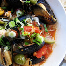 Sunday Supper: Fish and Mussel Stew with Green Olives