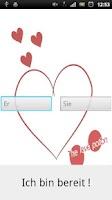 Screenshot of Liebestest (love test)