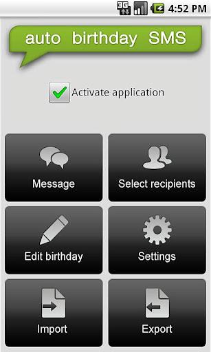 Auto Birthday SMS