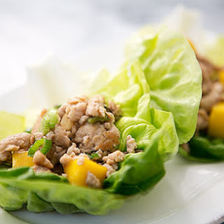 Chicken Mango Lettuce Wraps