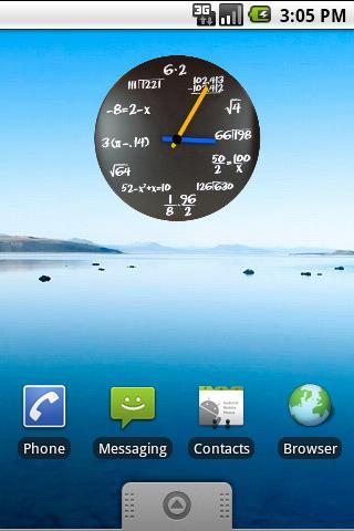 Math Analog Clock Widget