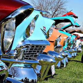 Tri-Fives by Paul Zeien - Transportation Automobiles ( automobiles, chrome, tri fives, car show, chevy )