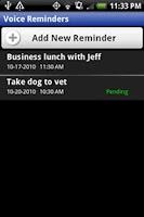 Screenshot of Voice Reminders
