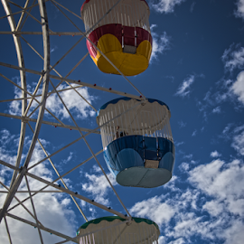 by Cornel Robinson - City,  Street & Park  Amusement Parks ( clouds, sky, park, ferris wheel, colours )