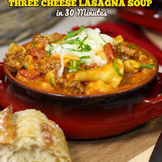 Ultimate Three-Cheese Lasagna Soup
