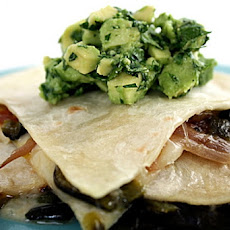 Quesadillas With Poblano Cream