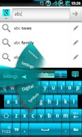 Screenshot of GOKeyboard ElectricCyan - Free
