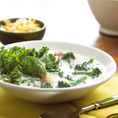 Broccoli-Potato Soup with Greens