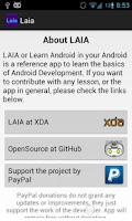 Screenshot of LAIA: Learn Android in Android