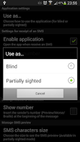 Screenshot of Blind SMS Reader 3.0