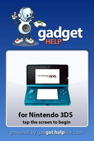 Nintendo 3DS Gadget Help
