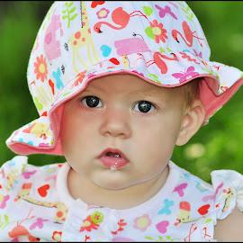 Mylee ~Rose  by Claire Turner - Babies & Children Babies ( drool, beautiful, mylee, baby, pretty, summery, eyes )