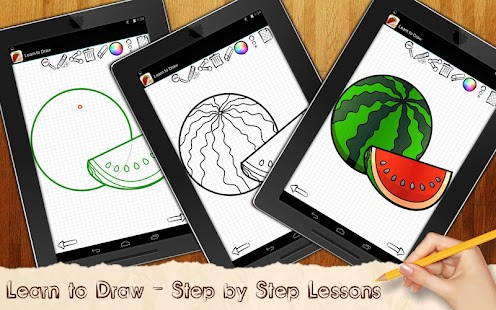 Learn to Draw Exotic Fruits - screenshot