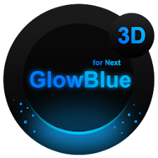 Next Launcher Theme GlowBlue