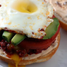 Chorizo, Avocado, and Egg Cemitas with Chipotle Mayonnaise