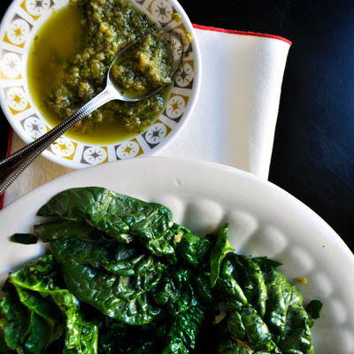 Spinach Salad with Oregano Vinaigrette