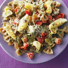 Farfalle with Mint Walnut Pesto