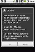 Screenshot of GPS Refresh Rate Meter