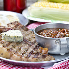 Campfire Porterhouse Steaks with Compound Butter {Giveaway}