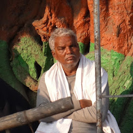 Lost in thought by Manjri Gopalan - People Portraits of Men