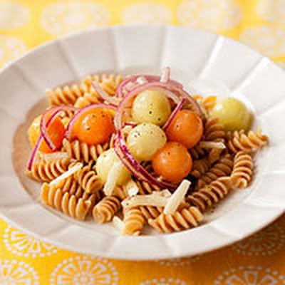 Pasta Salad with Melon