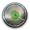 Metal Buttons:Green Clock icon