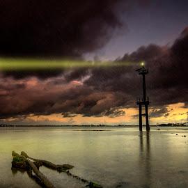 The Light Signal by Ade Irgha - Landscapes Weather ( explore bali, bali, seascape, serangan island, airimagebali, Earth, Light, Landscapes, Views )