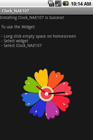 Widget Clock_NAE107