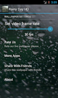 Screenshot of Rainy Day HD. Video Wallpaper.