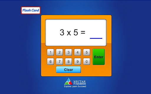 Flash Card Multiplication