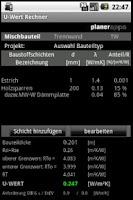 Screenshot of U-Wert Rechner Lite