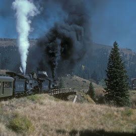 Arriving at Cumbres by Claes Wåhlin - Transportation Trains ( steam locomotive, c&ts, d&rgw, colorado, passenger train )